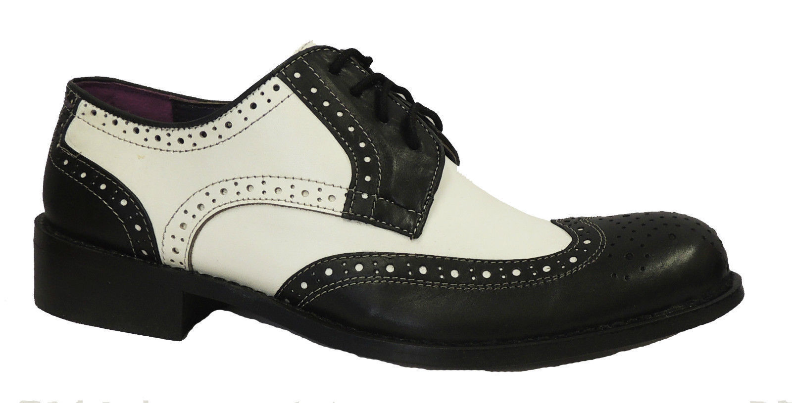 new 1920 s 30 39 s 40 39 s mens black white leather gangster jazz gatsby brogues shoes ebay. Black Bedroom Furniture Sets. Home Design Ideas