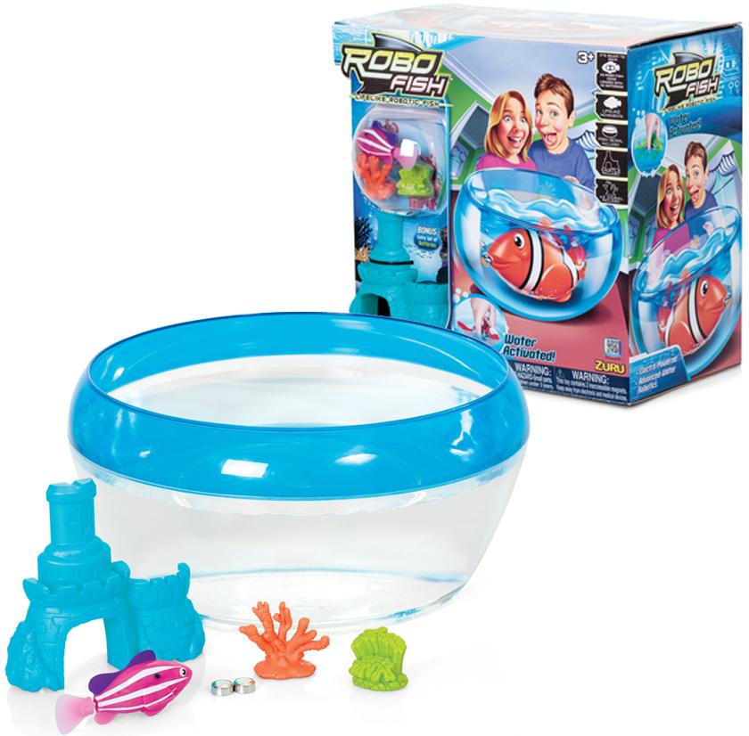 Genuine Zuru BOWL SET ROBOFISH Toy Pet Robo Fish Kids Boy Girls Birthday Gift