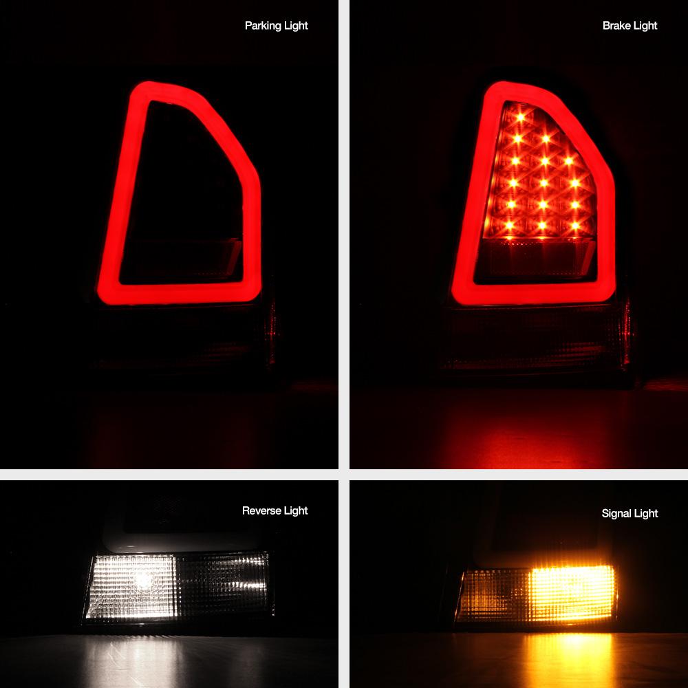 "2005 2006 2007 Chrysler 300c Srt8 Clear Black Headlights: Black ""TRON STYLE"" OLED Tube Tail Lights Lamps For 2005"