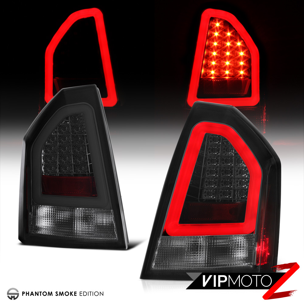 "Chrysler 300 2006 Black Led Tail Lights: 2005-2007 Chrysler 300C 6.1L ""TRON STYLE"" Phantom Smoke"