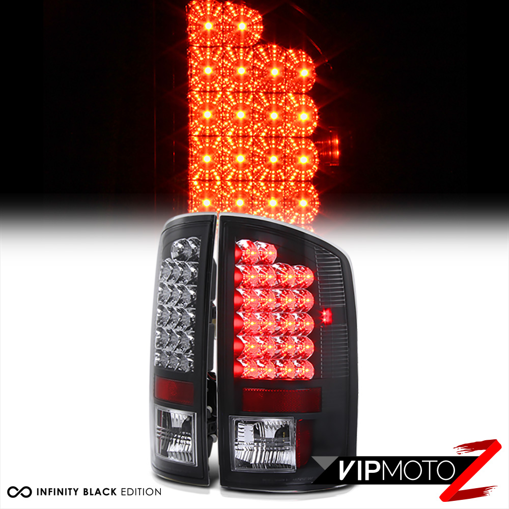 2007 2008 dodge ram 1500 black led rear brake tail light 2007 2009 ram. Black Bedroom Furniture Sets. Home Design Ideas