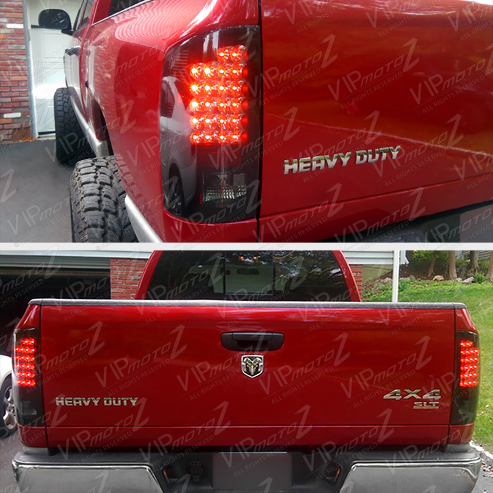 smoke led tail lights lamps 2007 2008 dodge ram 1500 2500 3500 ebay. Black Bedroom Furniture Sets. Home Design Ideas