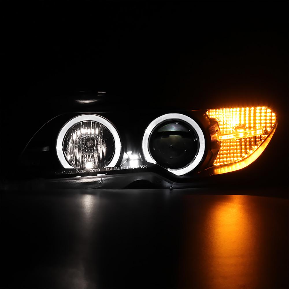 2004 2005 BMW E46 2DR Coupe 325ci 330ci Black Angel Eye