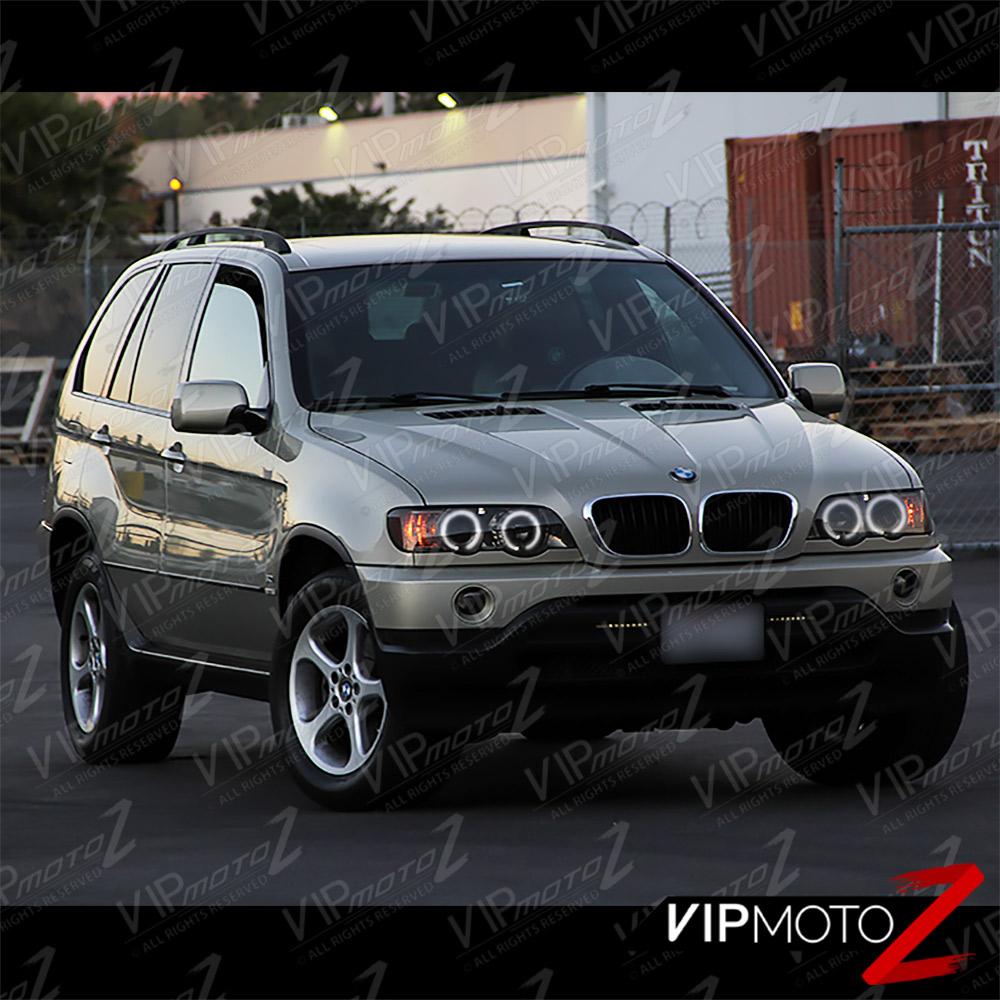 BMW 2001-2003 E53 X5 Smoke Halo Projector Headlamp+LED