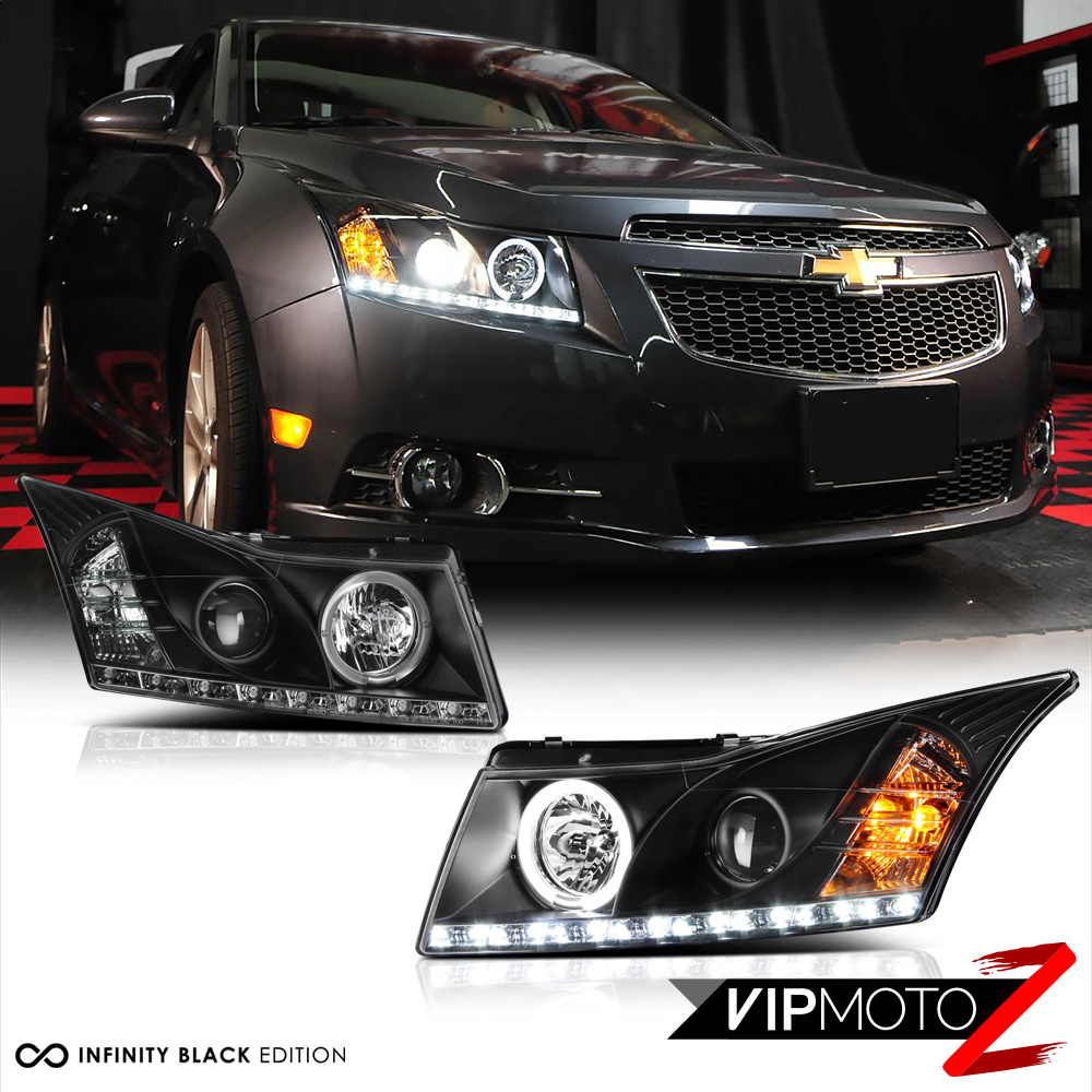 Venom Inc Headlights >> 2011-2015 CHEVY CRUZE Black Halo Projector LED Headlight Signal Lamps Assembly • CAD $298.72 ...