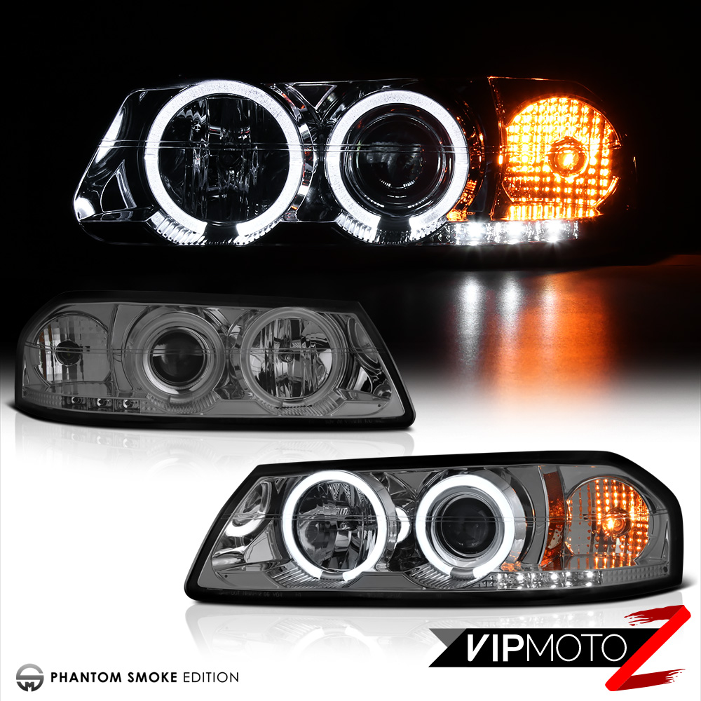 New Pair Left Right Smoke Projector Headlight Dual Ccfl Halo Rings Ford Focus Wiring 00 05