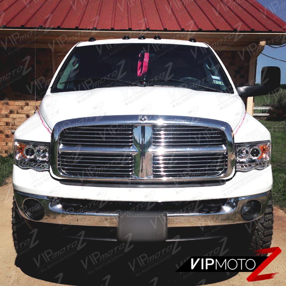 2002 2005 dodge ram 1500 chrome halo led projector. Black Bedroom Furniture Sets. Home Design Ideas