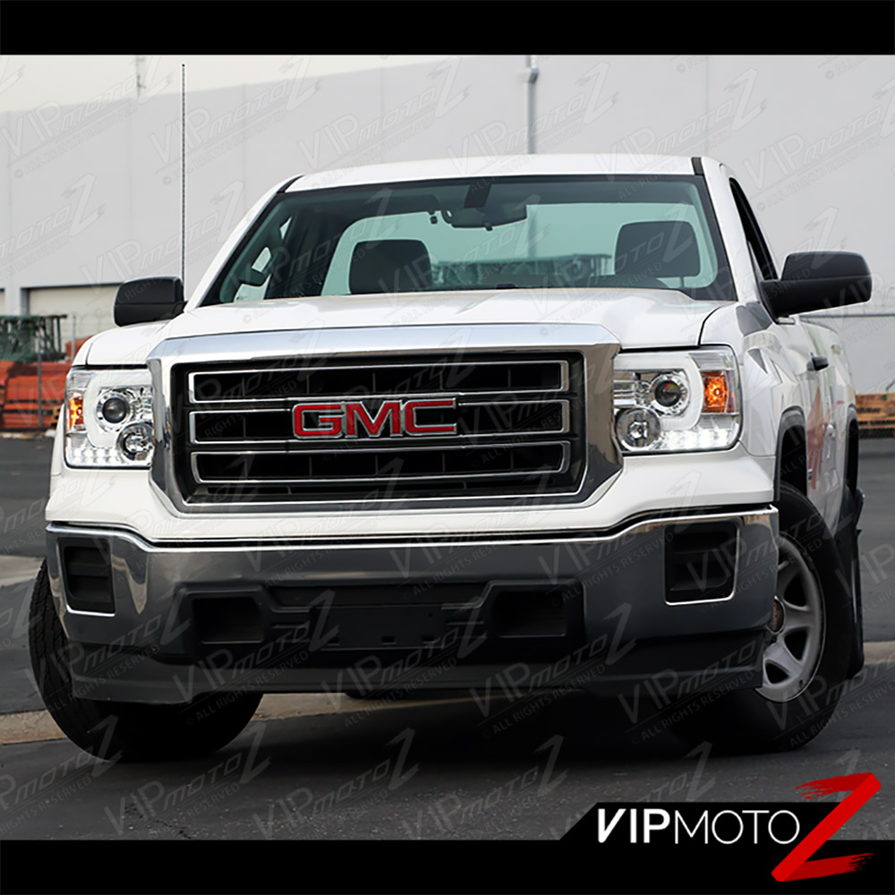 2014-2015 GMC Sierra [UPGRADE] Neon Tube Headlights Red