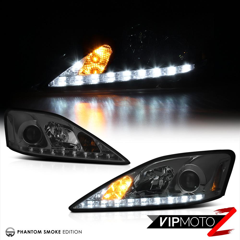 06-13 Lexus IS250 IS350 Smoke DRL Light Bar Projector ...