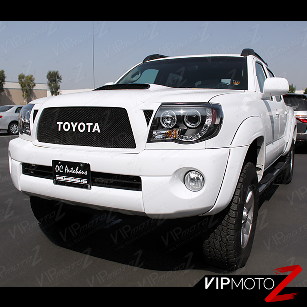 2005 2011 toyota tacoma black halo led projector