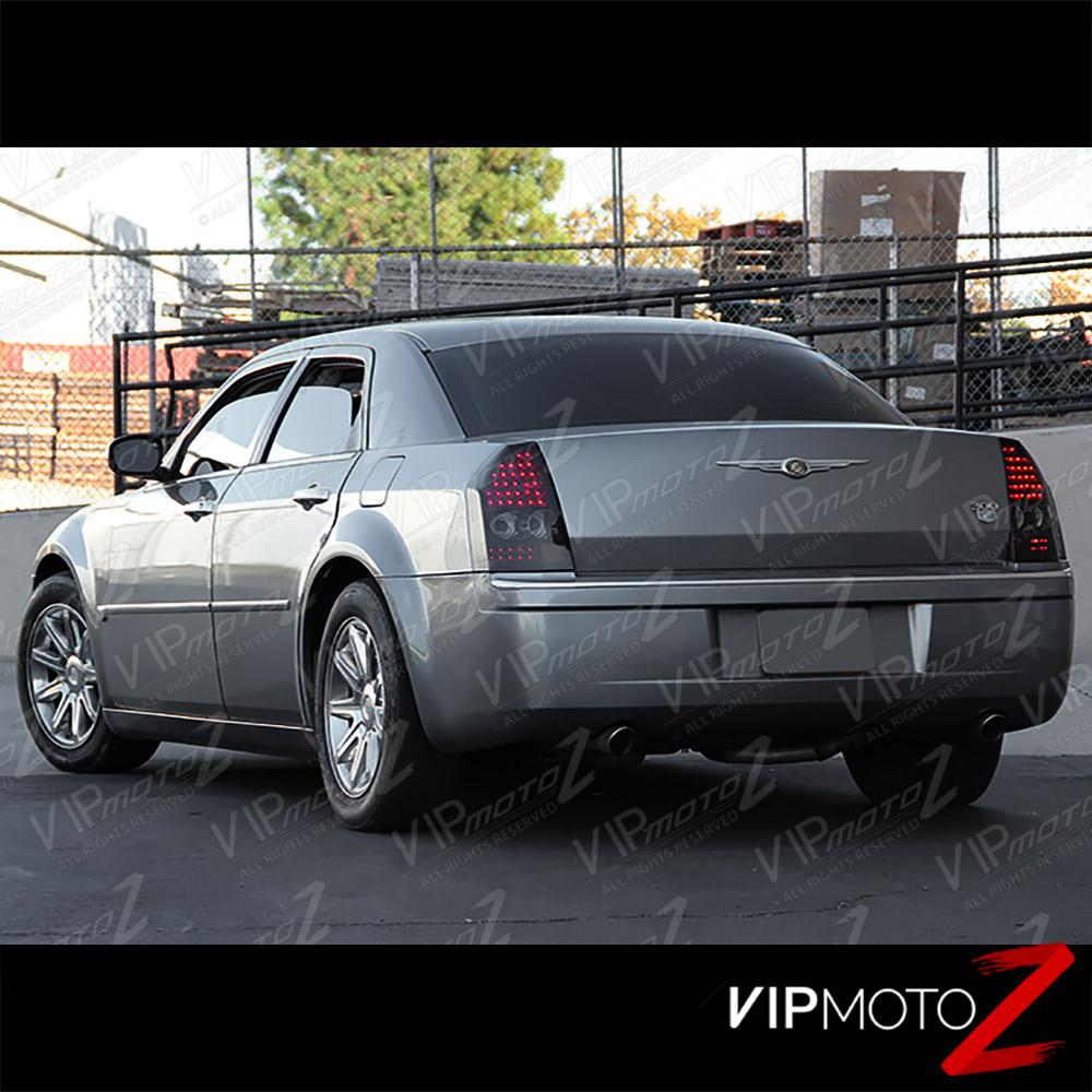 "2005-2006-2007 Chrysler 300C ""DARKEST SMOKE"" LED Rear Tail"