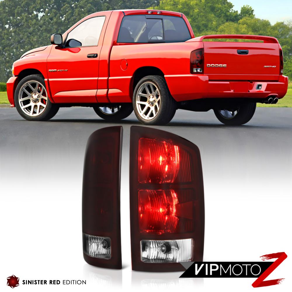 2002 2006 dodge ram 1500 2500 3500 sinister red rear tail light lamps. Black Bedroom Furniture Sets. Home Design Ideas