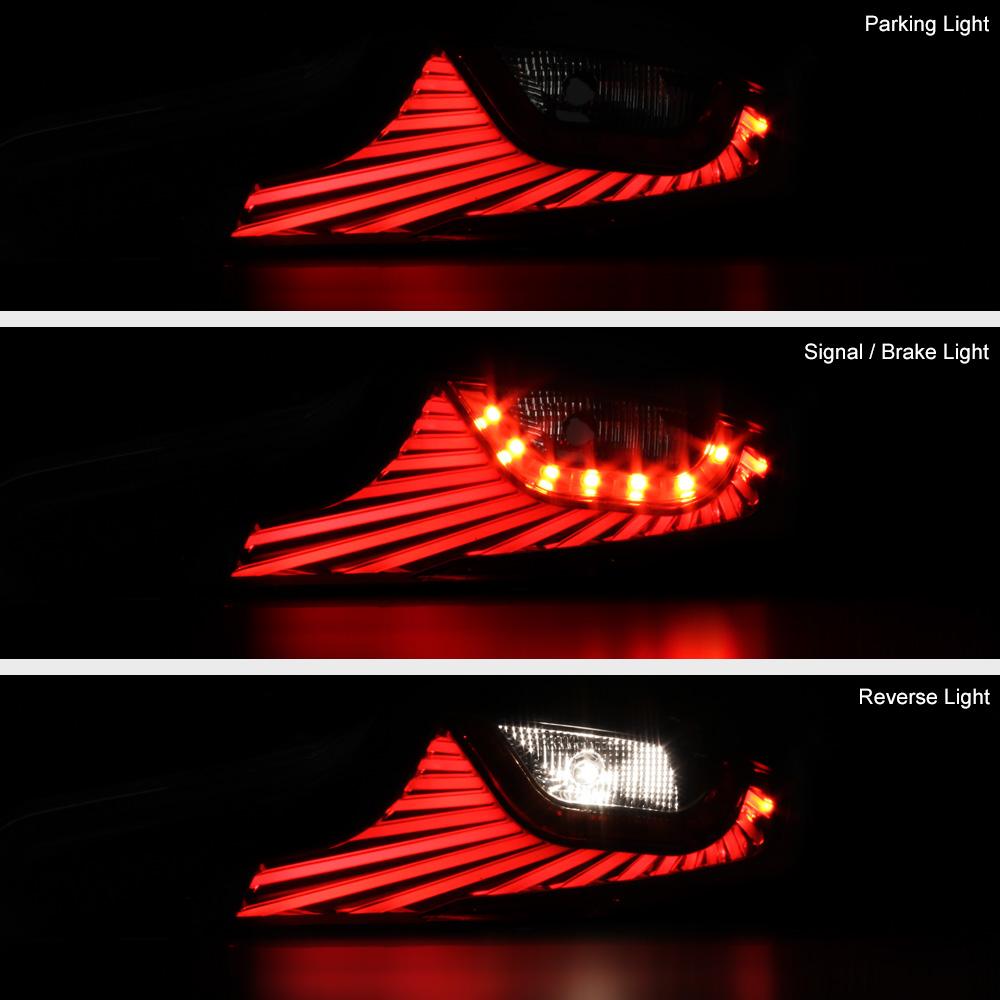 For 2006 2007 Infiniti G35 Coupe Led Light Bar Black