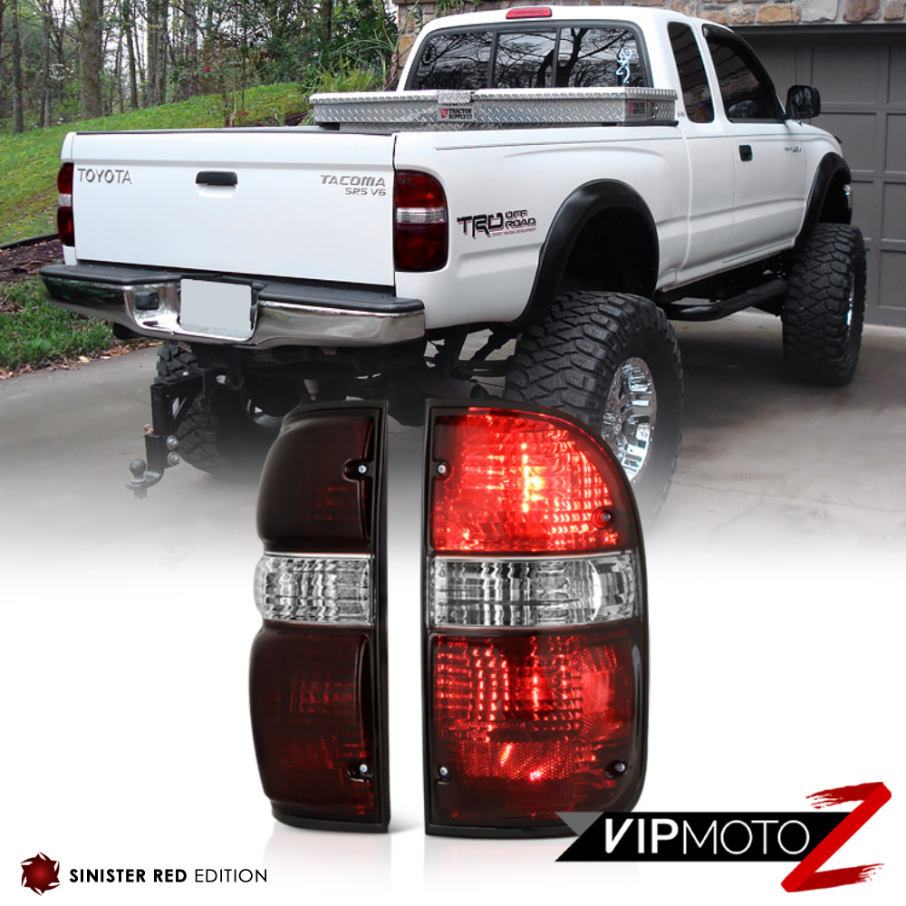 toyota tacoma 2001 2004 4x4 smoke tinted oe style tail lights offroad. Black Bedroom Furniture Sets. Home Design Ideas