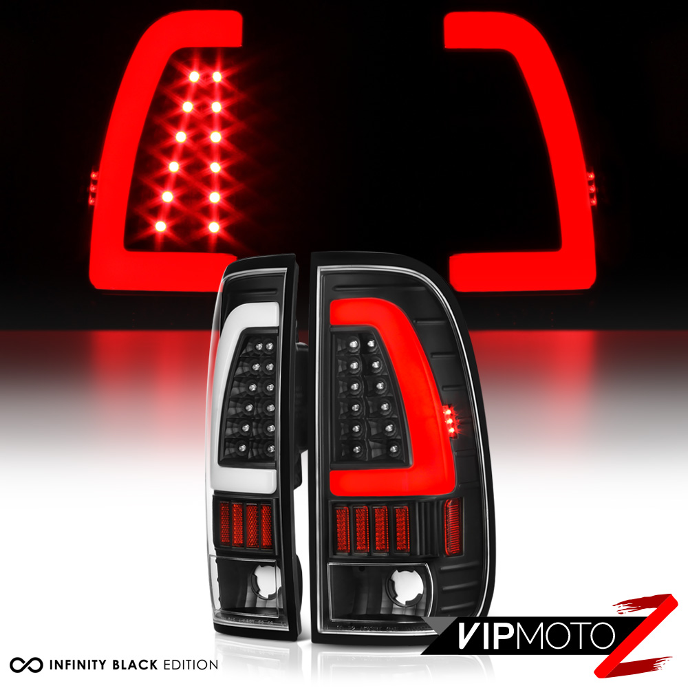 optic 1997 2003 ford f150 f250 superduty black led tail lights ebay. Black Bedroom Furniture Sets. Home Design Ideas