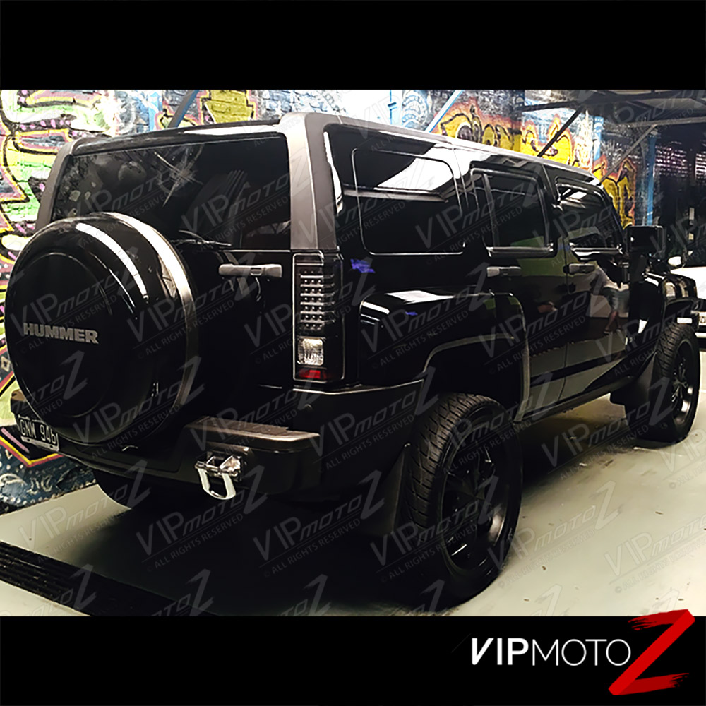 2006 2010 hummer h3 black led neon tube tail light brake signal not compatible with h3t truck models designed to fit 2006 2010 hummer h3 vanachro Choice Image