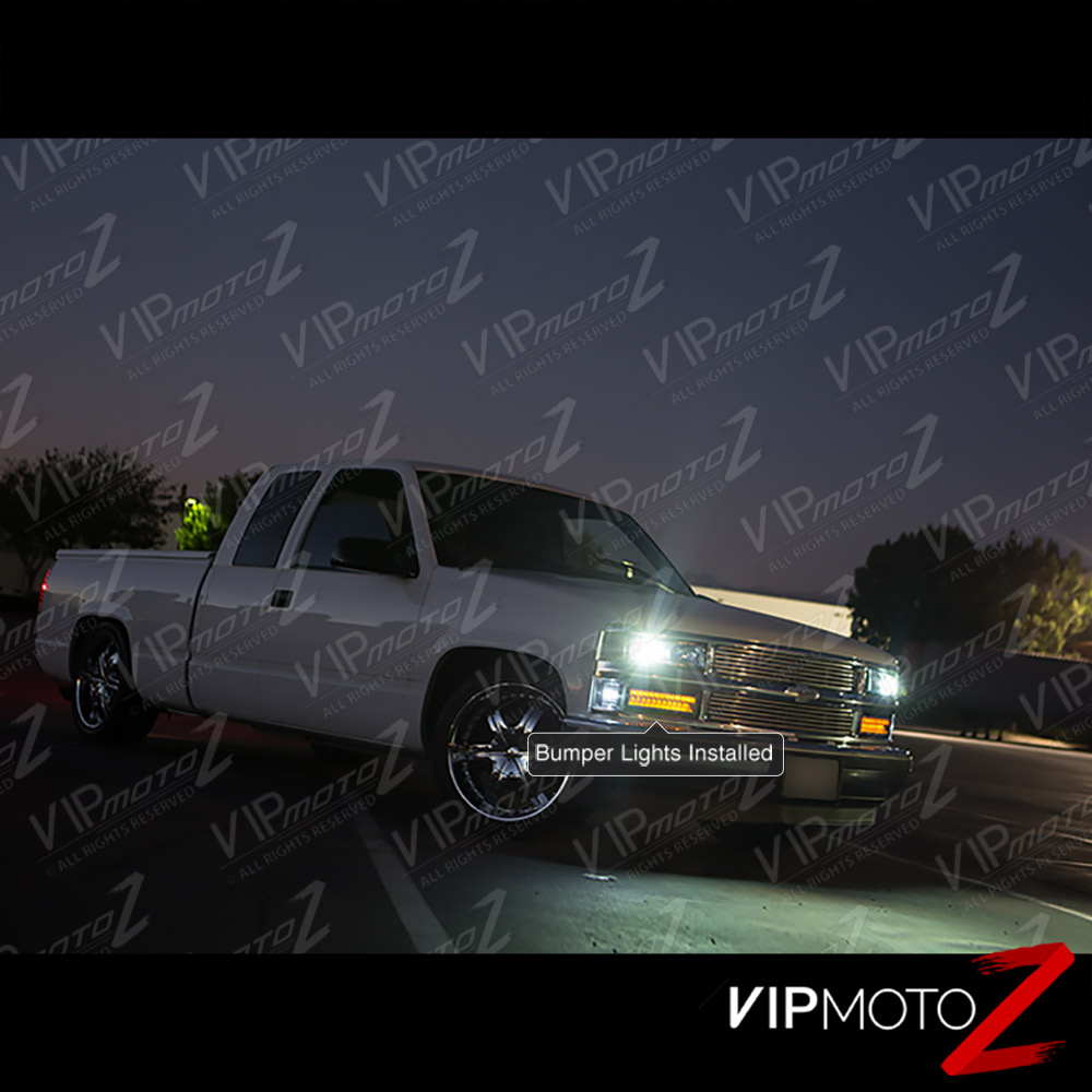 1994-1998 Chevy GMC CK 1500 2500 3500 Clear Yellow LED