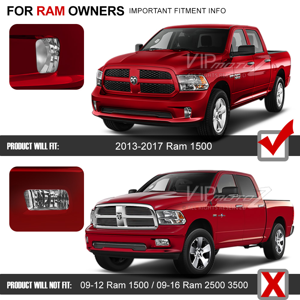 2013 2017 Dodge Ram 1500 Left Right Bumper Foglights W Bulbs Wiring Switch Ebay