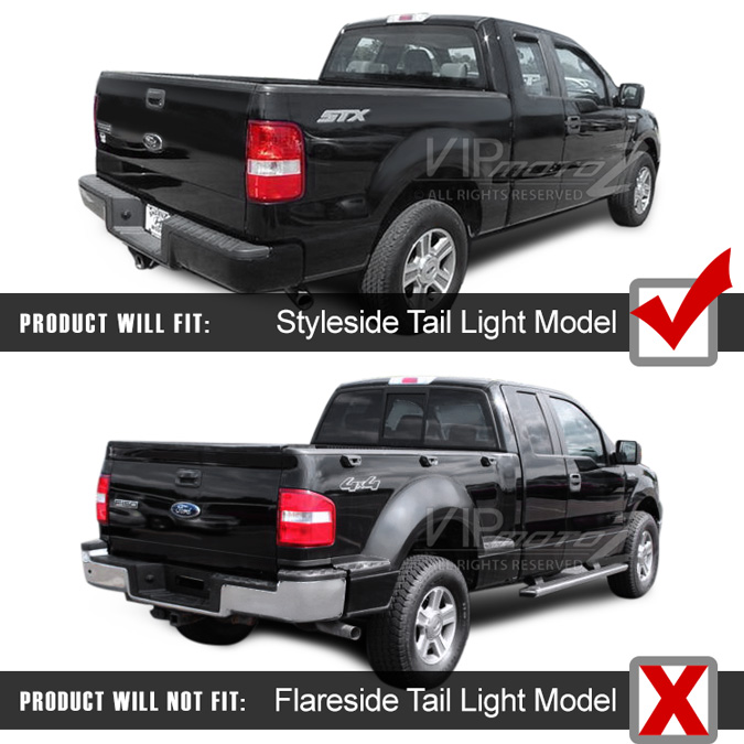 2004 2008 ford f150 lobo smoke led smd rear brake tail. Black Bedroom Furniture Sets. Home Design Ideas