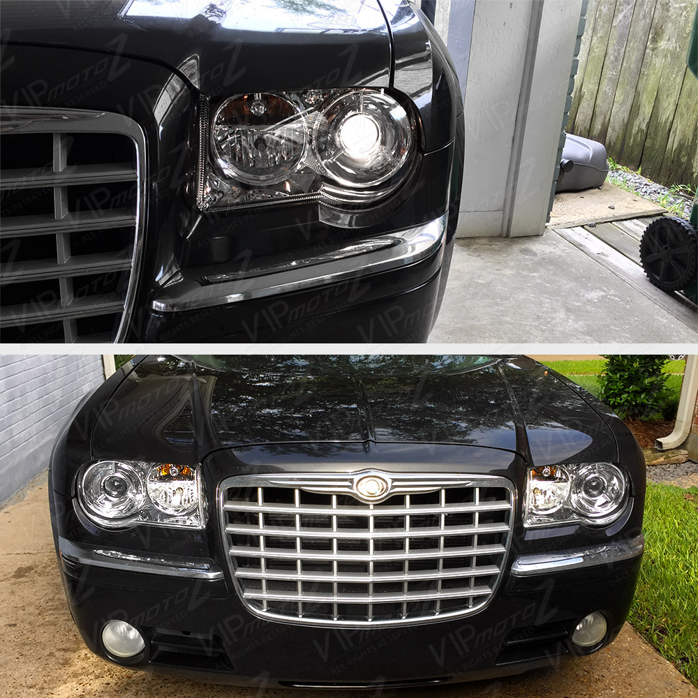 "Chrysler 300c With Factory Halogen Headlights: 2005-2010 Chrysler 300C ""FACTORY STYLE"" Chrome LEFT RIGHT"