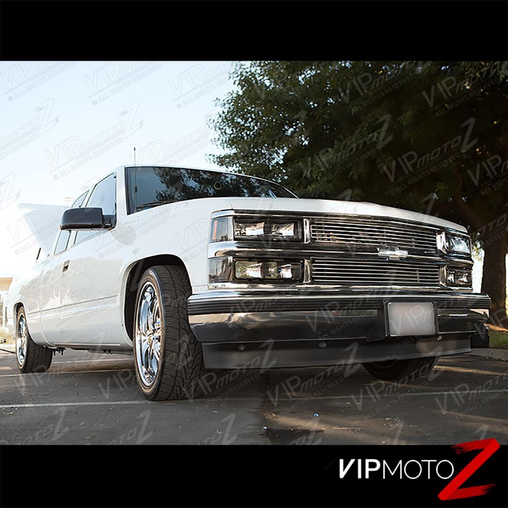 1994-1998 Chevy CK 1500 2500 3500 Silverado [10PC] Black
