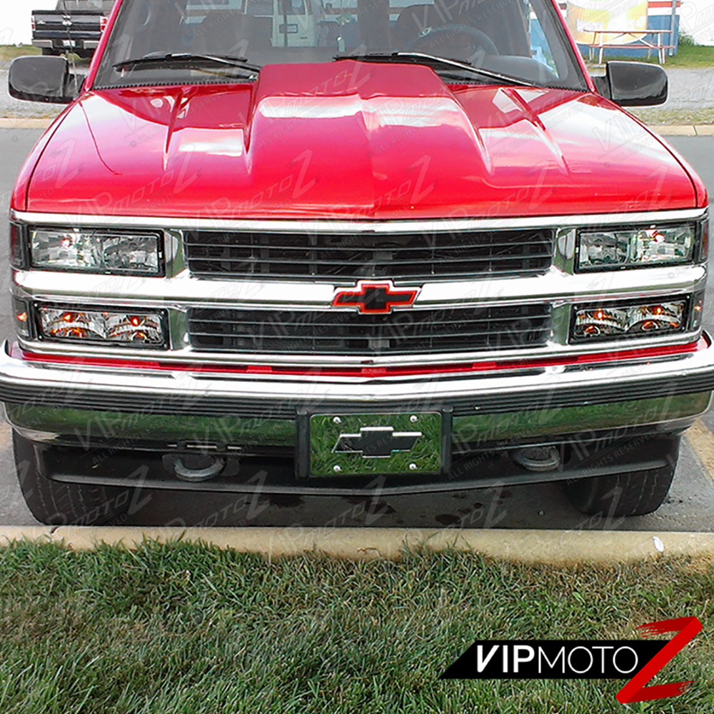 1994 1998 chevy silverado suburban tahoe ck chrome bumper signal headlight ls cad 87 24