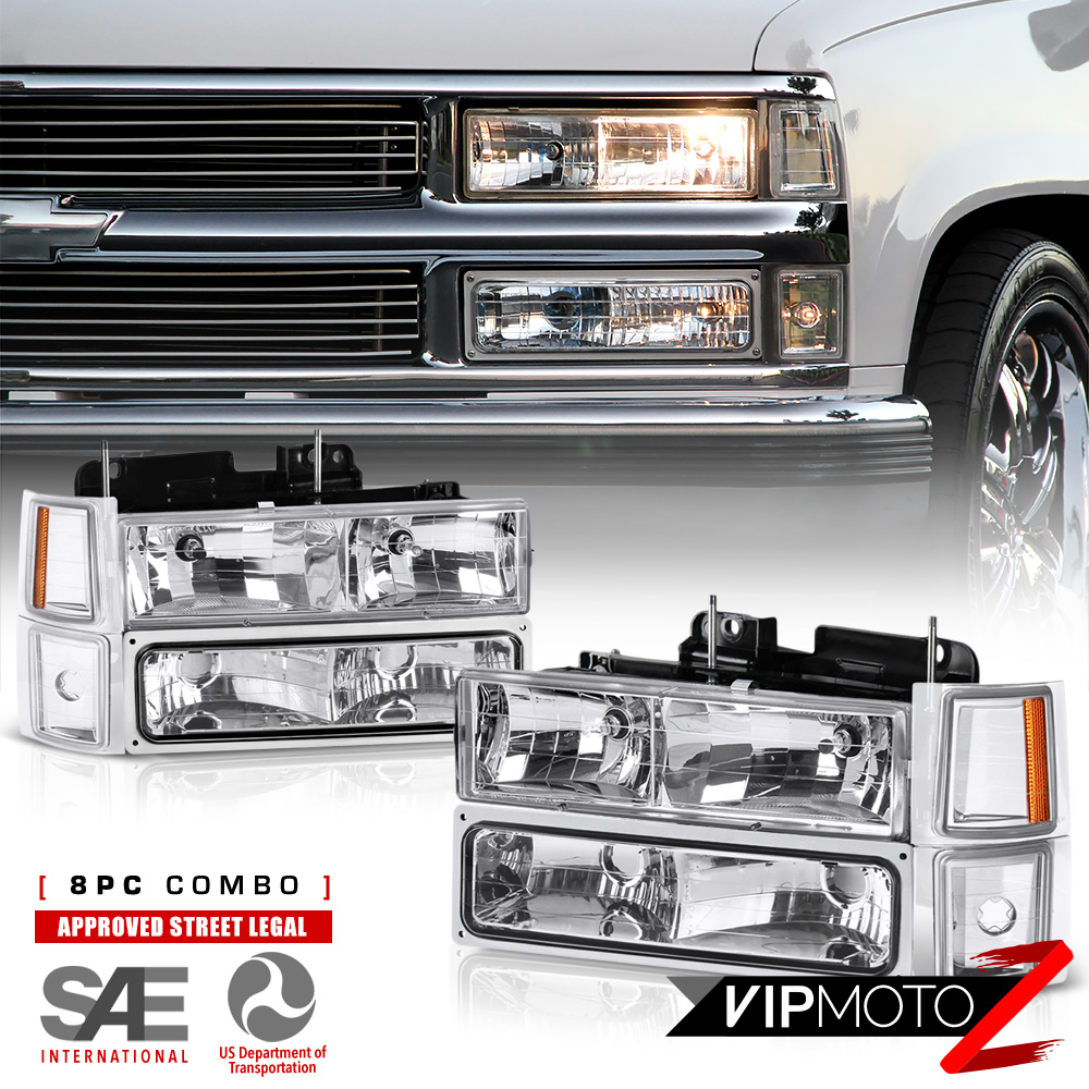1994 1998 chevy silverado suburban tahoe ck chrome bumper signal headlight ls cad 89 03