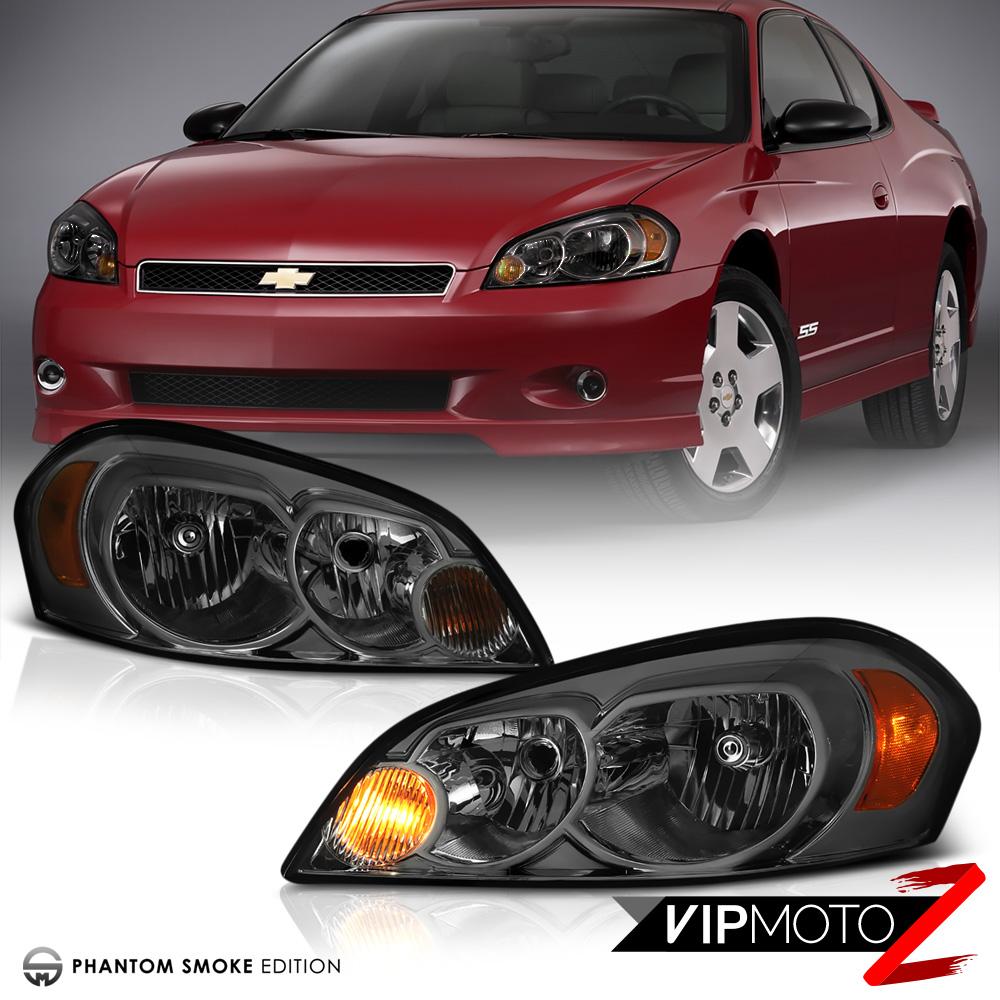 06: [SMOKE] 2006-2013 Chevy Impala Tinted Front Headlight