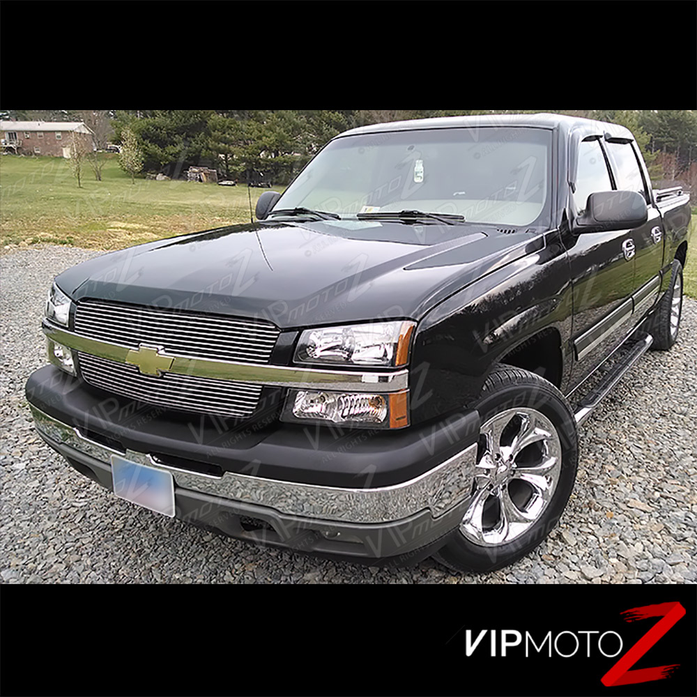 2003 2006 chevy silverado avalanche 1500 2500 3500 black turn signal head lights cad. Black Bedroom Furniture Sets. Home Design Ideas
