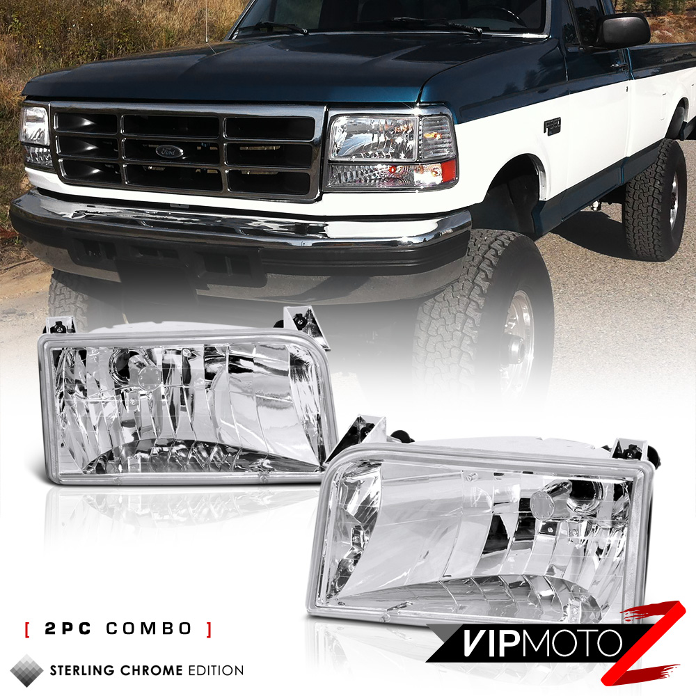 1992-1996 Ford F150 F250 F350 Bronco Chrome Front
