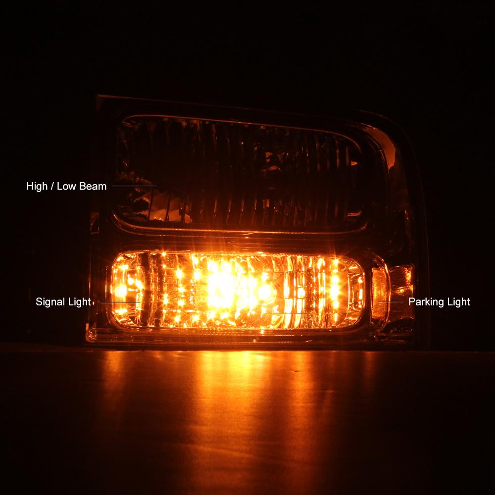 1999 2000 2001 2002 2003 2004 Ford F250 F350 Front Bumper Signal Headlights Lamp | eBay