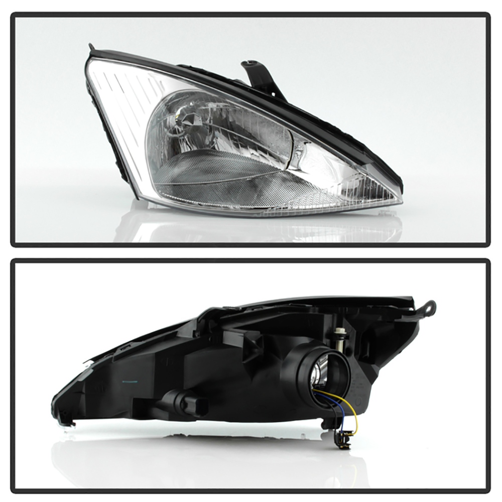 Chrome factory style 2000 2004 ford focus headlights