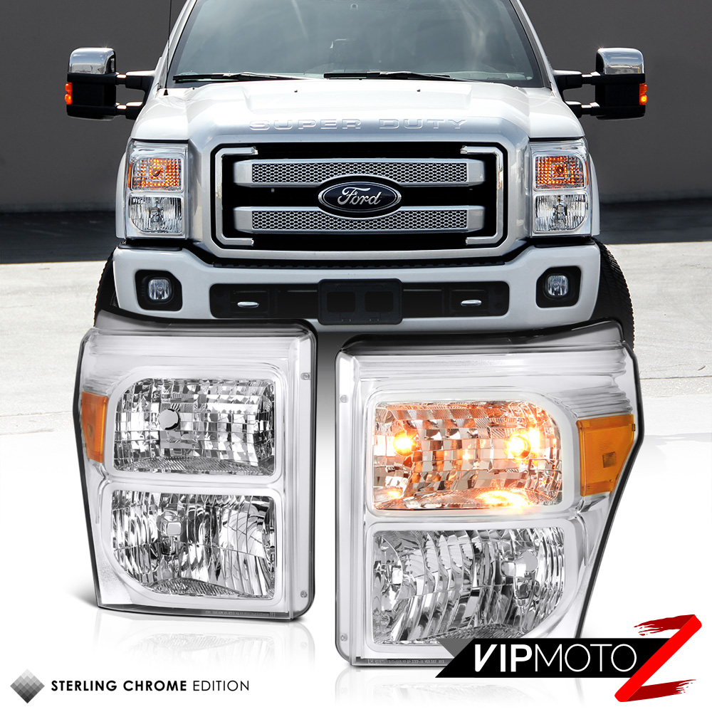 Star projector lamp ebay - Factory Style Ford F250 F350 F450 Superduty Chrome Headlights Lamps Ebay