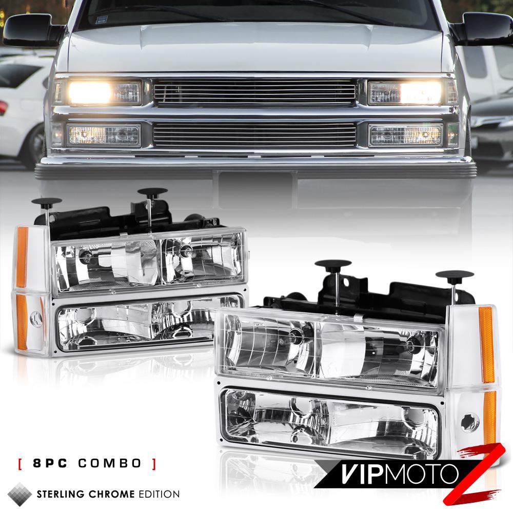 1988-1993 Chevy C/K Suburban Blazer Headlights Corner