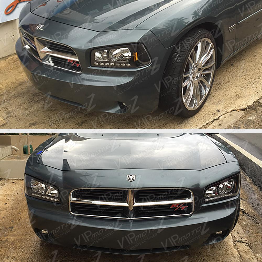 2006 2010 Dodge Charger Complete Set Black Led D R L