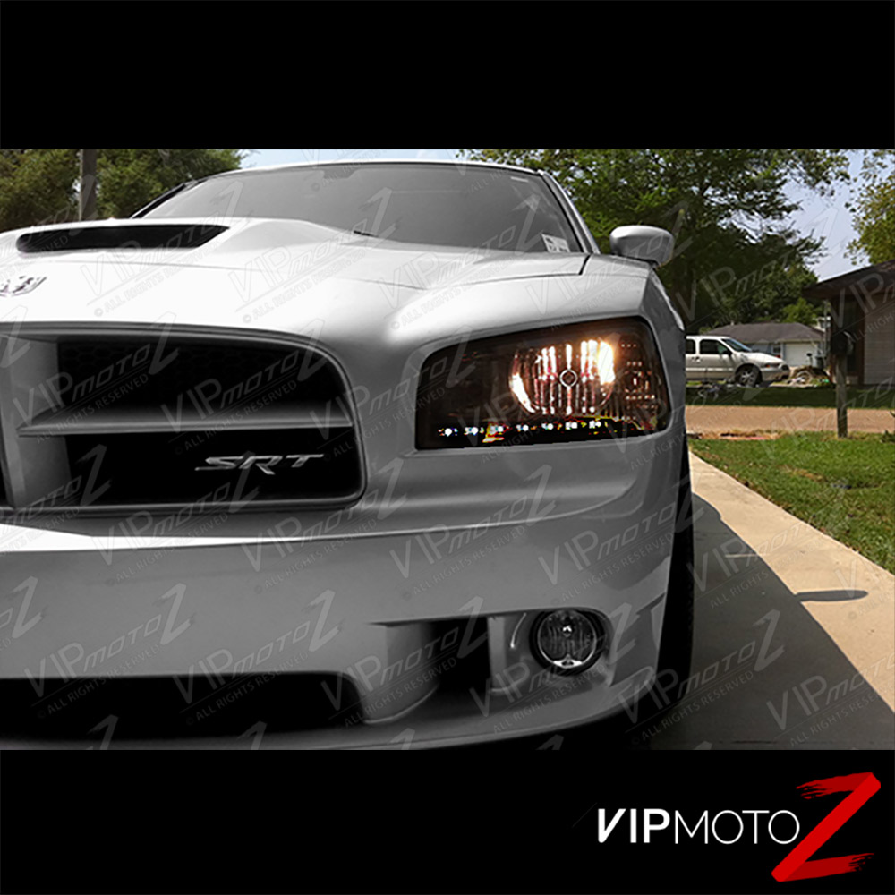 2006 2010 Dodge Charger Smoke Led Drl Tinted Front