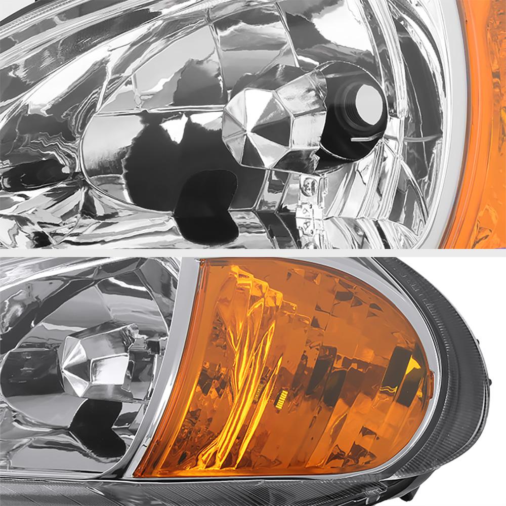 1993-1997 Honda Del Sol Chrome Factory Style Headlights