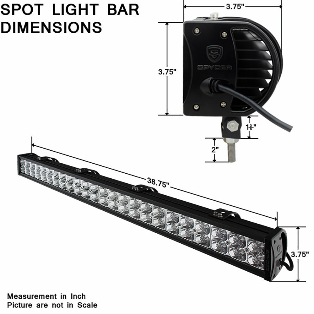 40 Inch 48x High Power SMD 144W LED AUX Light Bar Flood