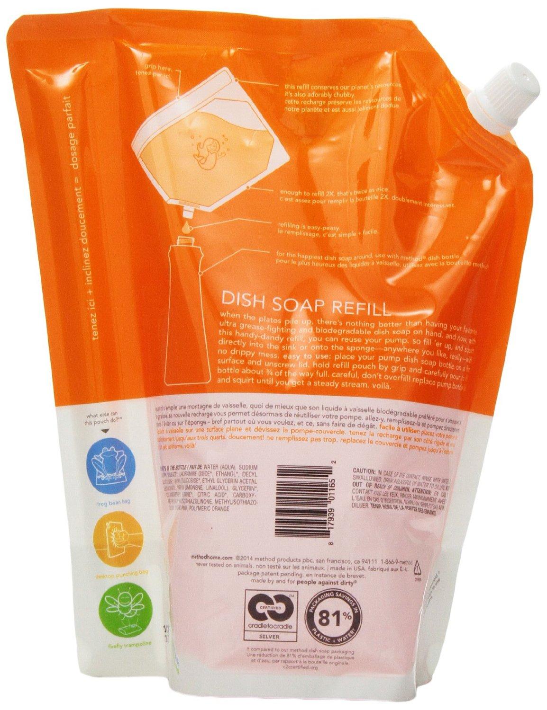 method clementine washing up liquid refill ml picclick