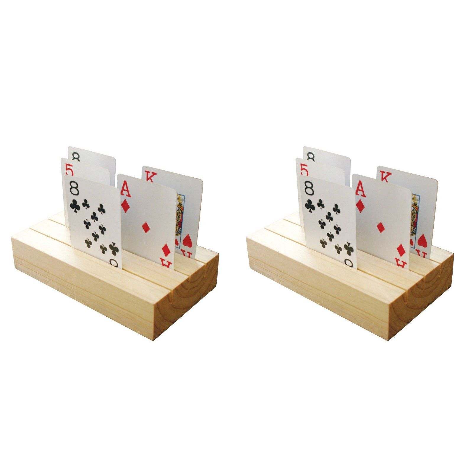 Hampton Direct 3-Tier Wooden Hands Free Playing Card Holders Set-Of-2 at Sears.com