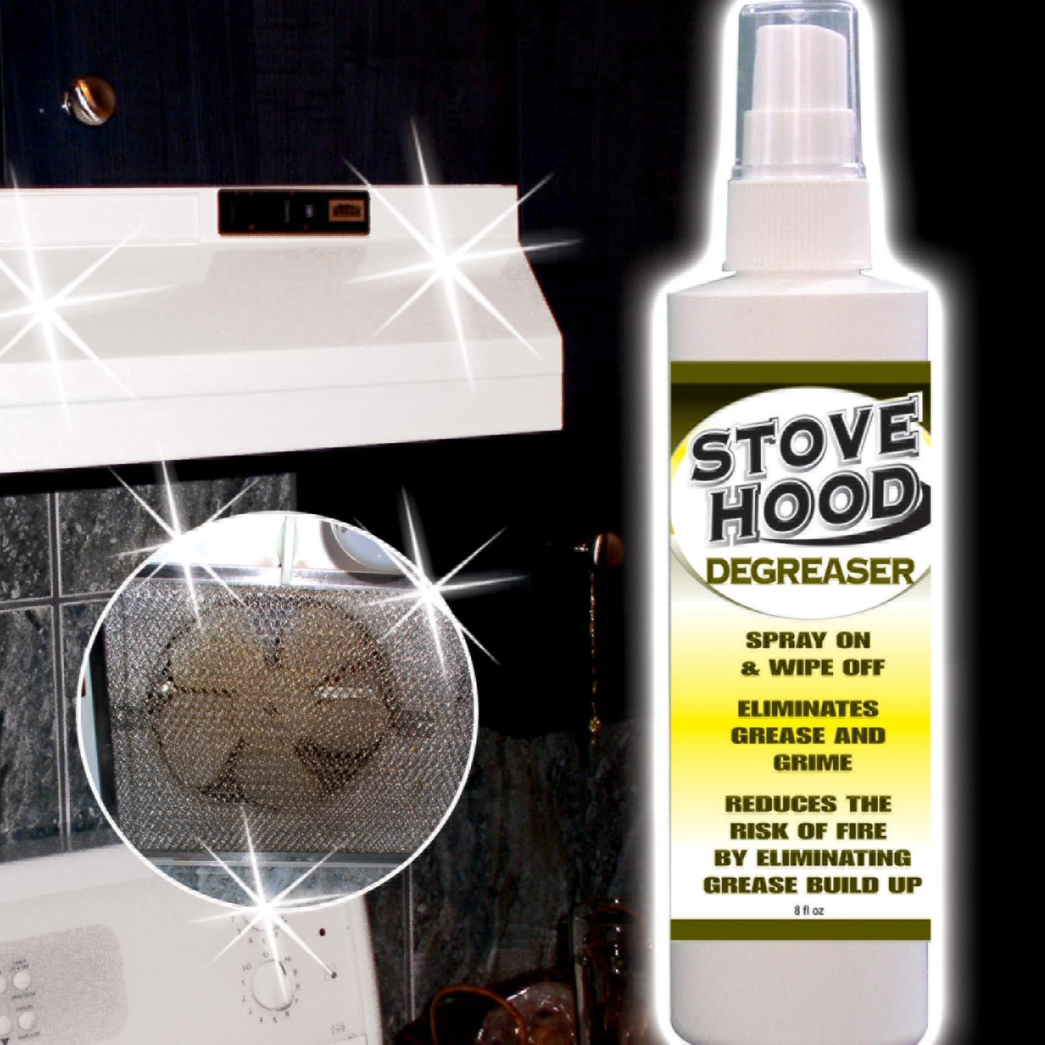 Hampton Direct Stove Hood Degreaser - Oven & Stove Top Spray/Cleaner - 8 fl. oz. at Sears.com