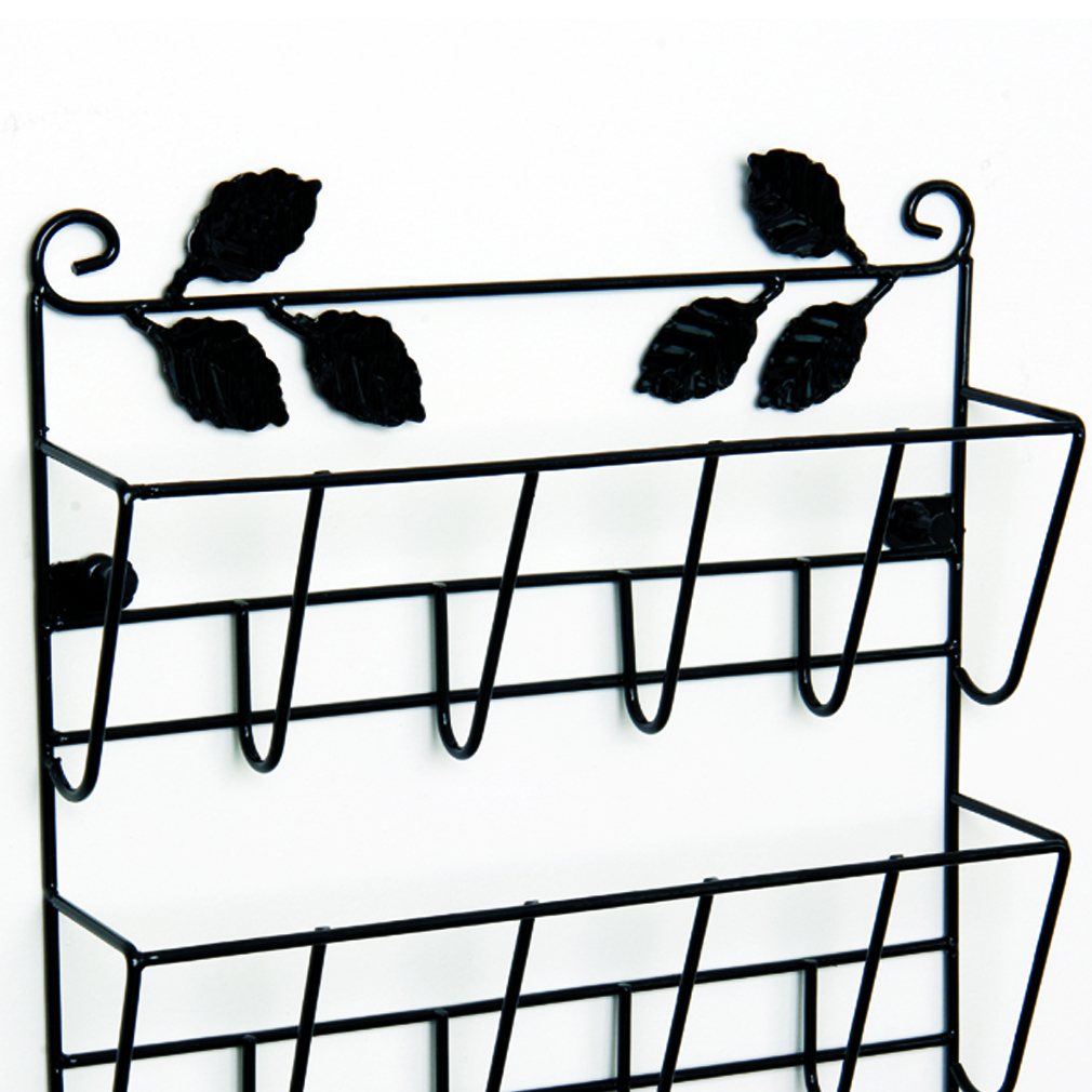 Evelots decorative leaf 3 tier letter rack organizer with key holders - Key and letter rack ...
