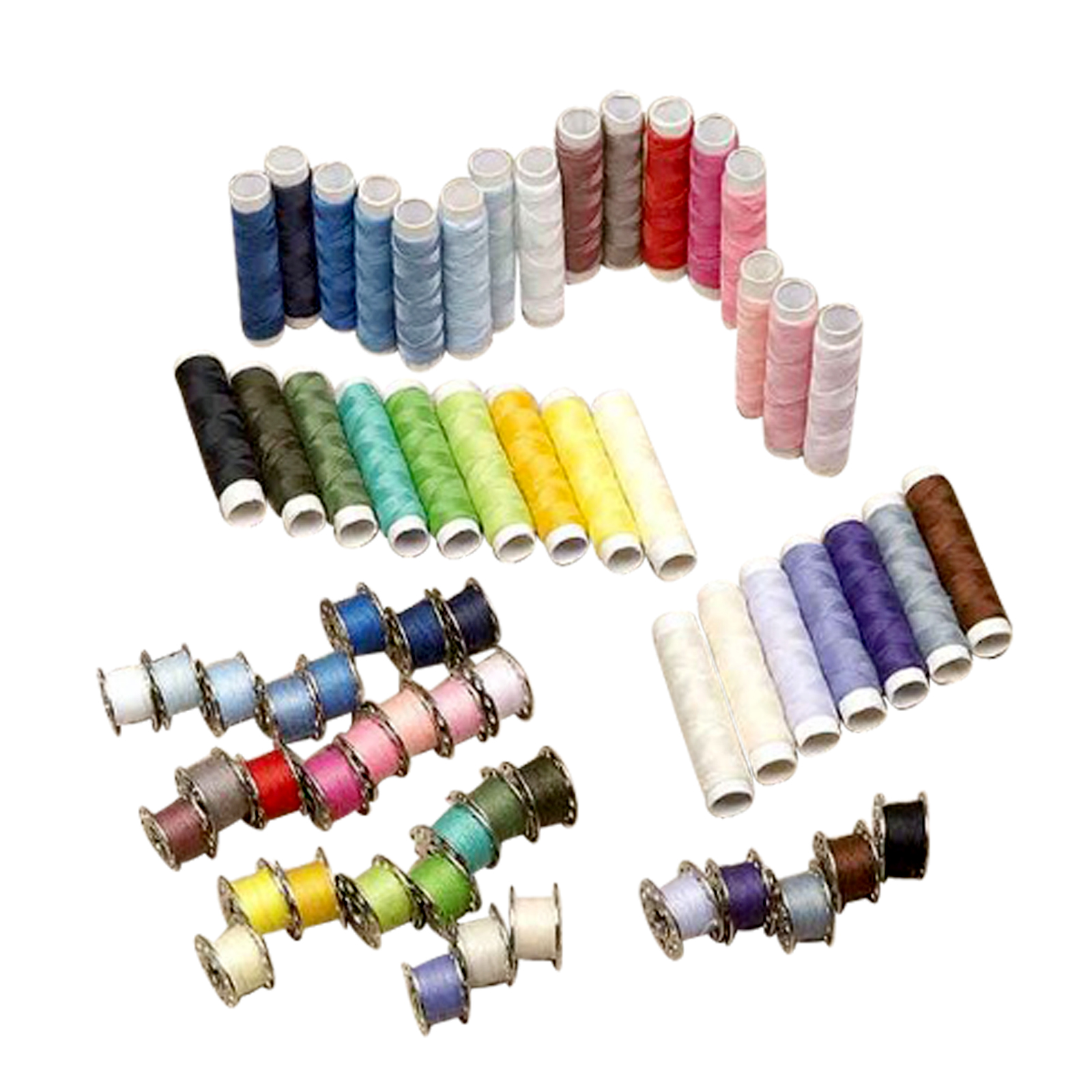 Evelots 64 Piece - Thread and Bobbin Kit Spool Embroidery Thread Kit Polyester Sewing at Sears.com