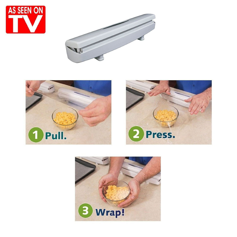 Wraptastic As Seen On TV Plastic Food Wrap Dispenser Aluminum Foil Wax Paper Cut at Sears.com