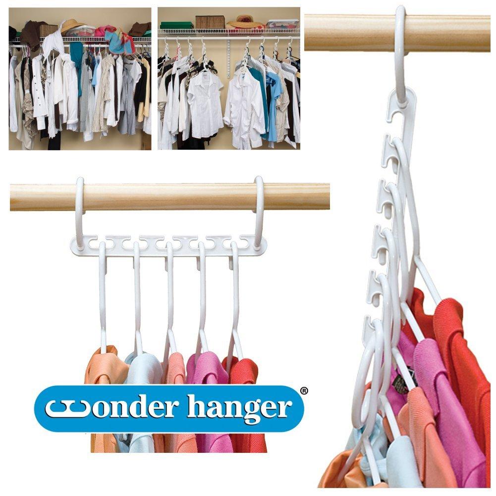 Wonder Hanger Closet Clothes Organizer/Space Saver Storage White Plastic 10 Pack at Sears.com
