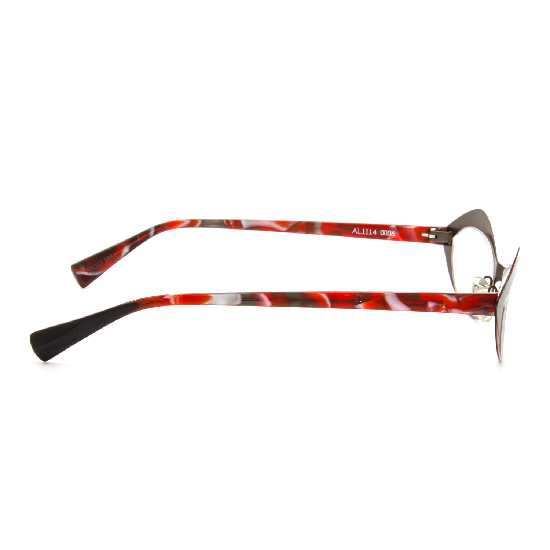 Frame Ups Eyeglasses : Alain Mikli AL 1114 Eyeglasses 0006 Dressed Up Red Pearl ...