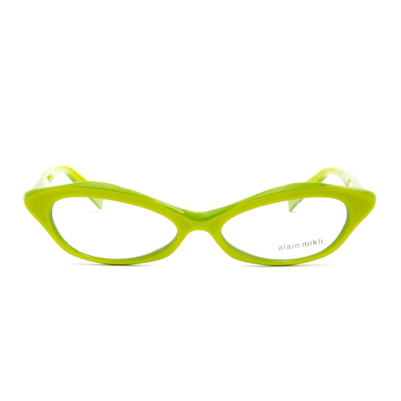 alain mikli al 1213 womens eyeglasses lime green frame