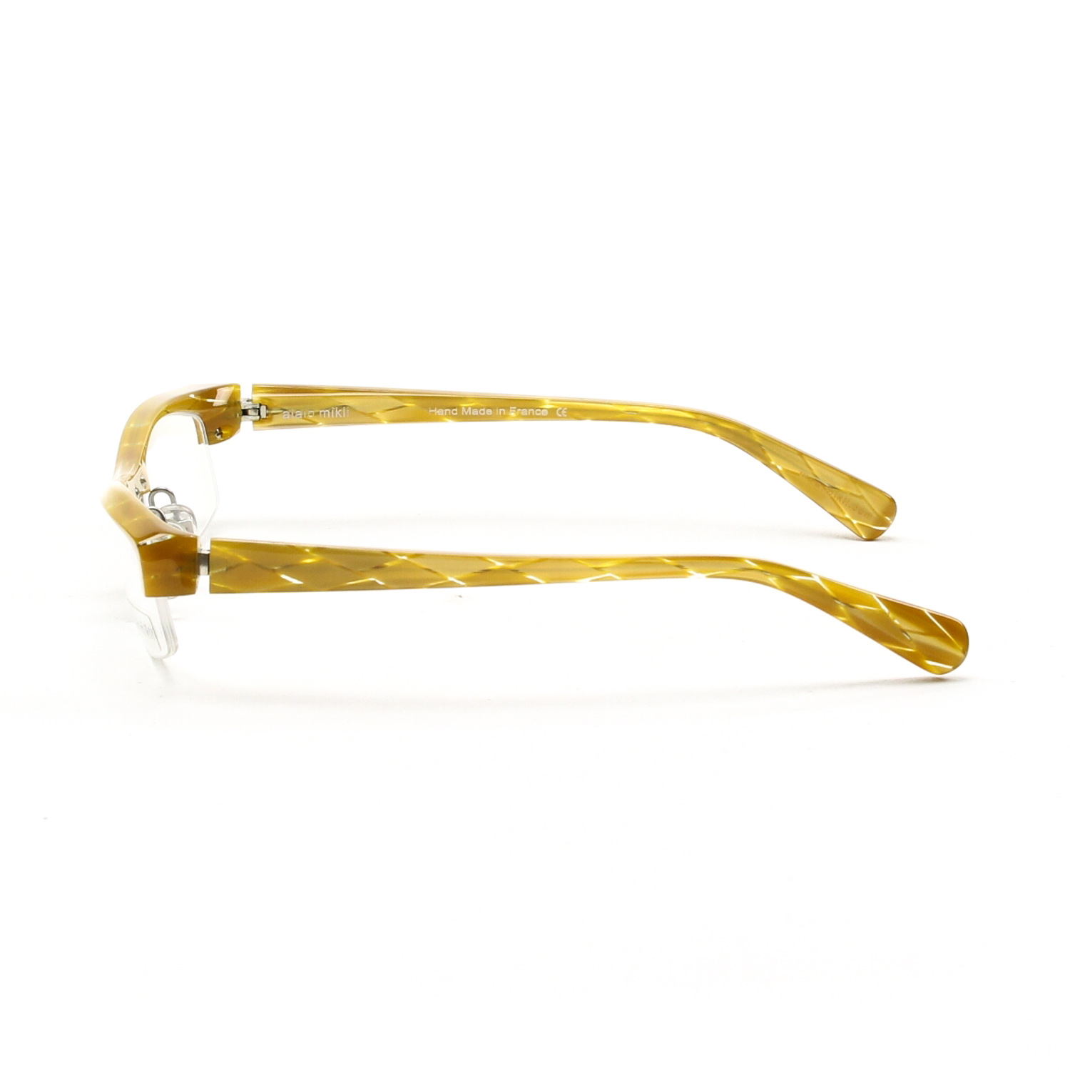 Glasses Frames With Diamonds : Alain Mikli AL0831 Eyeglasses Translucent Yellow Gold ...