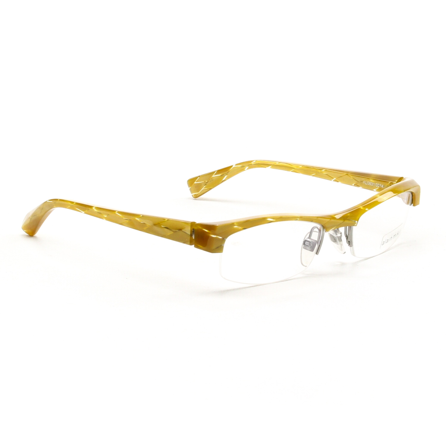 Glasses Frames With Diamonds : Alain Mikli Eyeglasses AL0831 0014 Translucent Yellow Gold ...