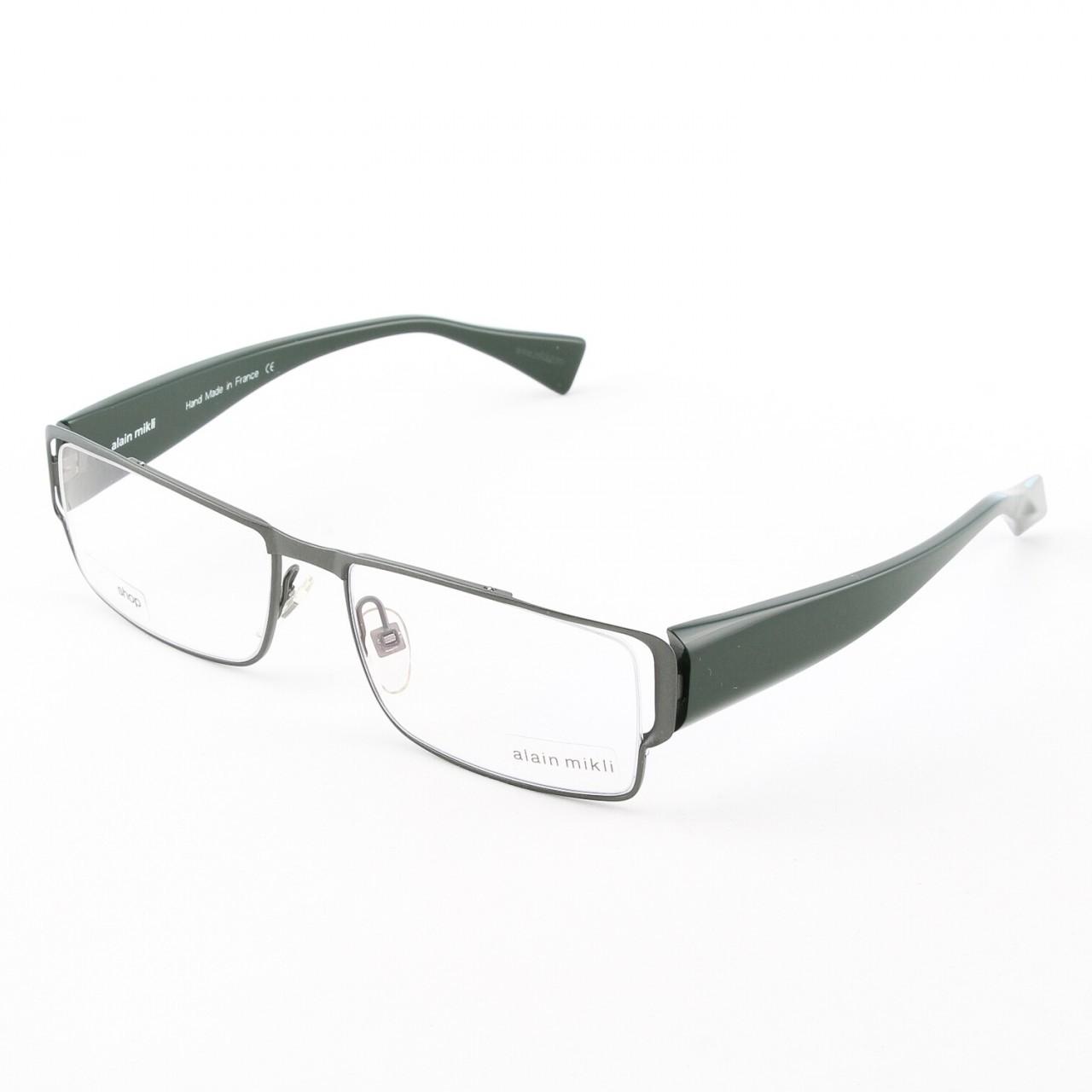 Alain Mikli AL0868 Eyeglasses Grey Green Frame RX Clear ...